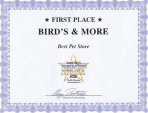 Daily Breeze Best Pet Store 2007 Winner